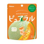 KABAYA Pure & Natural Fruit Soft Candy Cantaloupe | KABAYA 雙層夾心水果 軟糖 哈密瓜味 58g