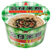 DOLL Instant Mifun Pickled Vegetable and Pork Flavor Bowl Size | 公仔 米粉雪菜肉絲味 (碗裝) 77g