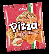 CALBEE - Potato Chips Cod Roe with Melty Cheese Pizza Flavor | 卡樂B 明太子蛋黃醬薄餅味薯片 55G