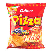 CALBEE - Potato Chips Melty Cheese Spicy Pizza Flavor  | 卡樂B 厚切脆脆香辣芝士薄餅味薯片 50G