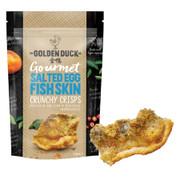 GOLDEN DUCK - Fish Skin Crisps Salted Egg Yolk Flavor | 新加坡金鴨 鹹蛋炸魚皮 125g