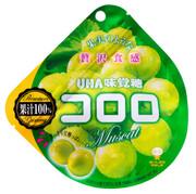 UHA Cororo Premium Fruit Juice Gummy Candy Green Grape Flavor | 味覺糖- 青提子味果汁軟糖 40g