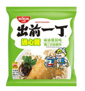 NISSIN Instant Macaroni Chicken with Sesame Oil Flavor | 出前一丁 通心寶麻油雞湯味 90g