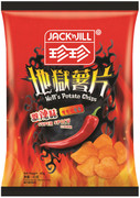 JACK N JILL Potato Chips Super Spicy Flavor   珍珍激辣味薯片 60g
