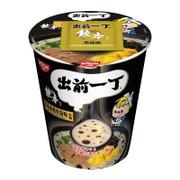 DEMAE Iccho Instant Cup Noodle Black Garlic Oil Tonkotsu Flavor | 出前一丁 黑蒜油杯麵豬骨湯味72g