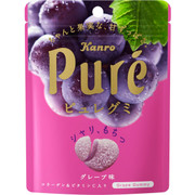 KANRO Pure Collagen Gummy Grape Flavor | 甘樂 巨峰葡萄味鮮果心型軟糖 56g
