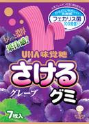 UHA Sakeru Fruit Juice Gummy (Grape Flavor) | 味覺糖 巨峰提子味扭條乳酸菌果汁軟糖 7 pcs
