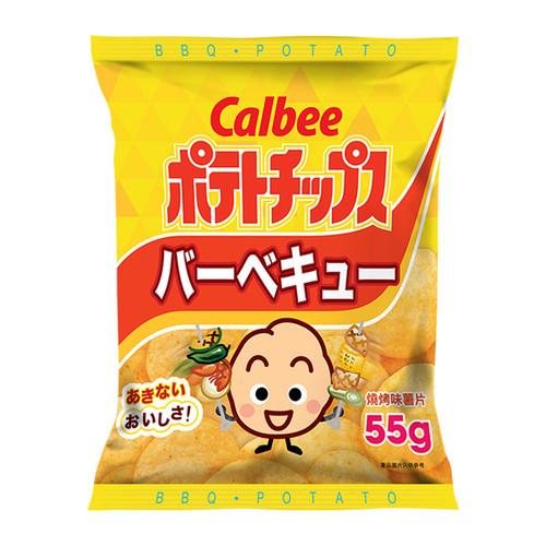 CALBEE - Potato Chips  BBQ Flavor |卡樂B 燒烤味薯片 55G