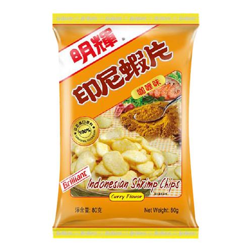 Brilliant Indonesia Shrimp Chips Curry Flavor 明輝蝦片咖喱味 80G