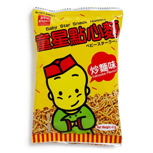 OYATSU BABYSTAR Snack Noodle Yakisoba Flavor   明星麵 童星點心麵炒麵味 41g