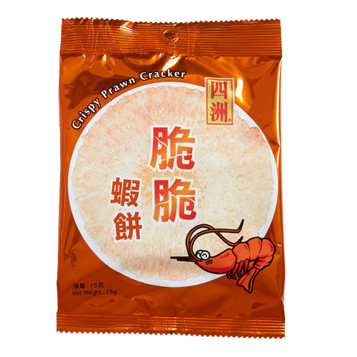 Four Seas Prawn Cracker Original Flavor 四洲原味蝦餅 15G