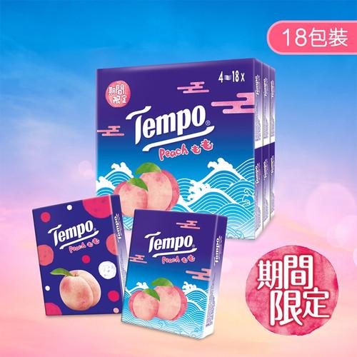TEMPO Petit Pocket Handkerchiefs Peach Scent | Tempo 紙巾 桃味 【1包/18包】
