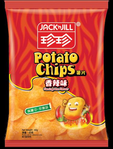 JACK N JILL Potato Chips Hot & Spicy Flavor | 珍珍香辣薯片60g