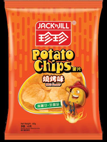 JACK N JILL Potato Chips Original BBQ Flavor   珍珍燒烤味薯片 60g