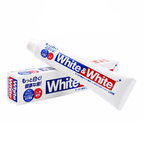 LION White & White Toothpaste - Mint   獅王特效酵素美白牙膏 清新薄荷味 150g