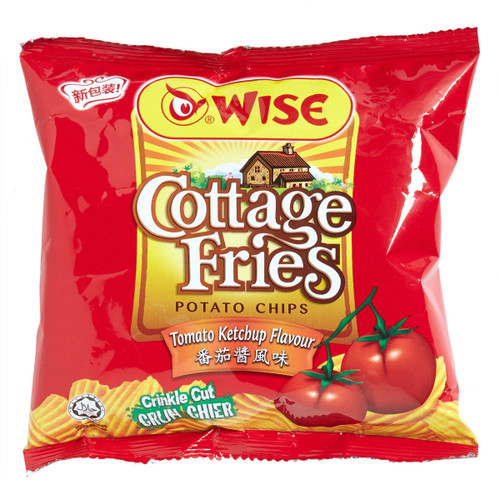 WISE Potato Chips Tomato Ketchup Flavor   威士 蕃茄醬風味薯片(包裝) 22G/65G