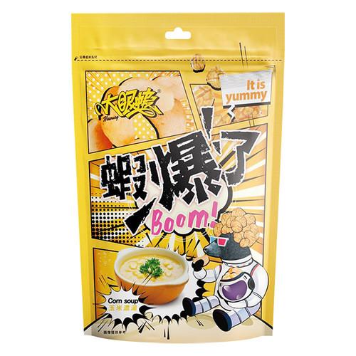 Lobster with Big Eyes - Shrimp Crackers & Pop Corn (corn soup favour) | 大眼蝦 - 蝦爆了-蝦餅+爆谷 (玉米濃湯味)80g