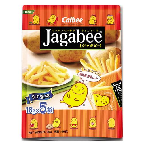 CALBEE - JAGABEE Potato Sticks Original Flavor   宅卡B 薯條原味 Bag Size (17G X5 Small Pack) 85G