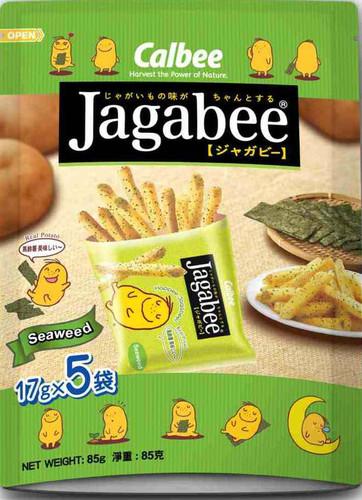 CALBEE - JAGABEE Potato Sticks Seaweed Flavor | 宅卡B 薯條紫菜味 Bag Size (17G X5 Small Pack) 85G