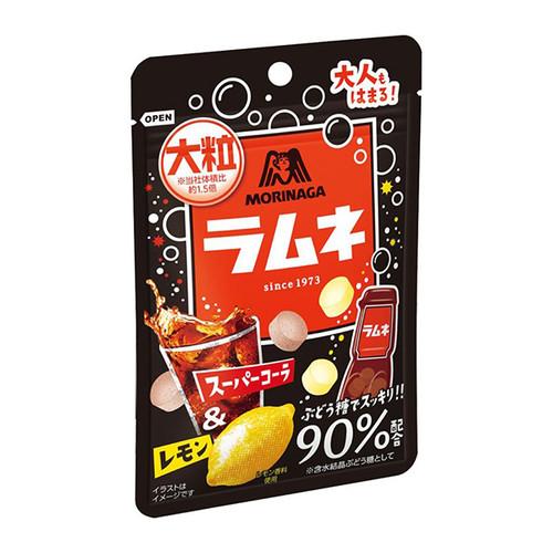 Morinaga Ramune Soda Candy (Cola & Lemon Flavor) | 森永 波子汽水糖大粒包裝(可樂&檸檬味)38G