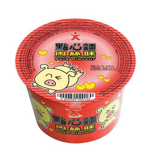 DOLL Instant Noodles Dim Sum Pork Flavor  公仔 點心麵  肉絲味 34G