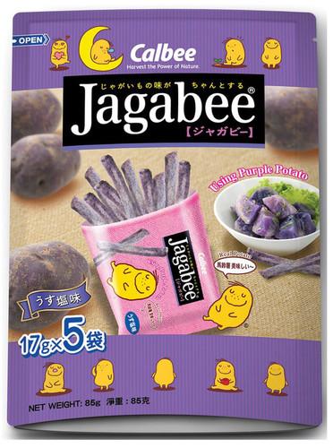 CALBEE - JAGABEE Purple Potato Sticks | 宅卡B 紫薯薯條 Bag Size (17G X5 Small Pack) 85G