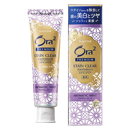 SUNSTAR Ora2 Premium  Stain Clear (Aromatic Mint) |  Ora2 去漬美白牙膏 (薰衣草薄荷味)100g