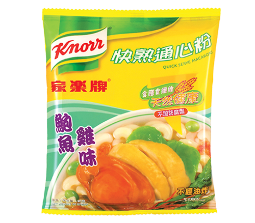 KNORR Quick Serve Macaroni Abalone and Chicken Flavor | 家樂牌 快熟通心粉鮑魚雞味 80g