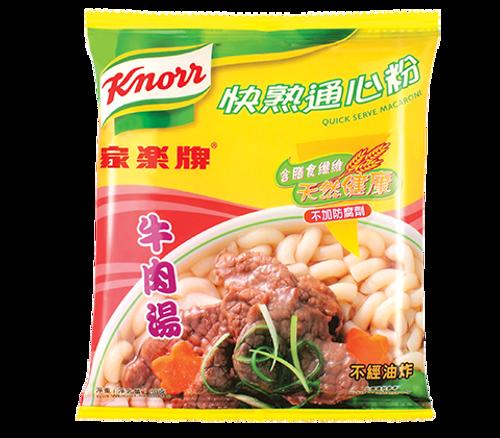KNORR Quick Serve Macaroni Beef Flavor  家樂牌 快熟通心粉牛肉湯味 80g