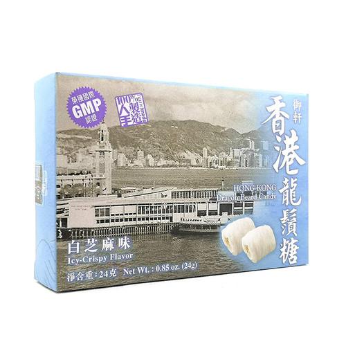 Yuhin Dragon Beard Candy White Sesame Flavor 御軒冰脆龍鬚糖 白芝麻味 4pcs 24g