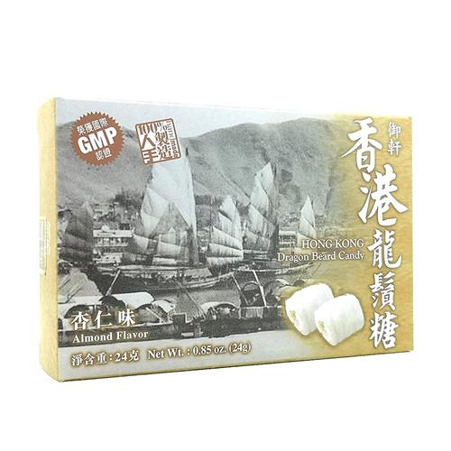 Yuhin Dragon Beard Candy Almond Flavor 御軒冰脆龍鬚糖 杏仁味 4pcs 24g