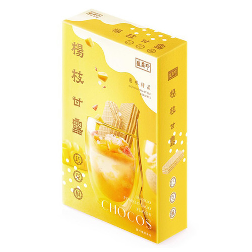 Triko Mango Pomelo Sago Flavor Wafers 盛香珍-楊枝甘露巧克酥 164g