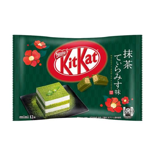 KITKAT Mini Chocolate Waffle Matcha Tiramisu Flavor   KITKAT 迷你朱古力威化 意式抺茶芝士蛋糕味 (12 Mini Bars)