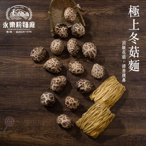 WING LOK Dried Mushroom Noodle 永樂粉麵廠 極上冬菇麵 12pcs