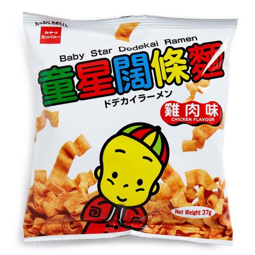 OYATSU BABYSTAR Snack Ramen Noodle Chicken Flavor   明星麵 童星闊條麵雞肉味 37G