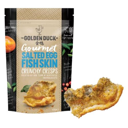 SINGAPORE GOLDEN DUCK Salted Egg Yolk Crunchy Fish Skin Crisp   新加坡金鴨 鹹蛋炸魚皮 125g