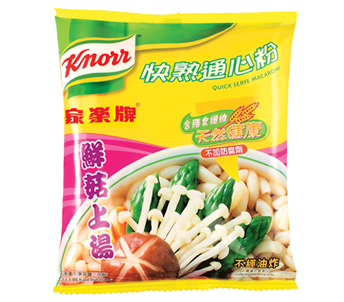 KNORR Quick Serve Macaroni Mushroom Flavor  家樂牌 快熟通心粉鮮菇上湯味 80g