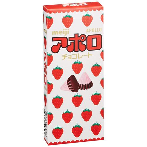 MEIJI Apollo Strawberry Chocolate | 明治 阿波羅草莓朱古力 46g
