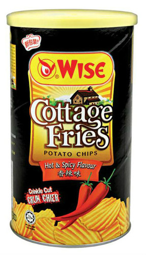 WISE Potato Chips Hot & Spicy Flavor  威士 香辣味薯片(罐裝) 100g