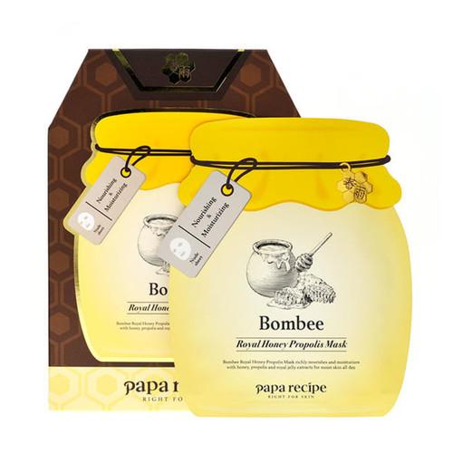 PAPARECIPE Bombee Royal Honey Propolis Mask   春雨 蜜蜂補水面膜 (限量版) [韓國] 7 pcs