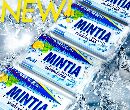 ASAHI Mintia Sugarless Sharp & Clear Mint Candy   朝日- 口腔清新SHARP&CLEAR無糖檸檬薄荷糖 50Tablets