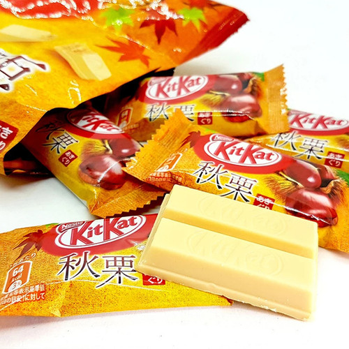 KITKAT Dark Chestnuts Waffle | KITKAT 日本秋粟威化餅12 Mini Bars