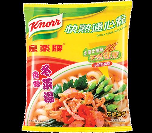 KNORR Macaroni Chilli Tung-Choi Broth Flavor | 家樂牌 快熟通心粉香辣冬菜湯 80g