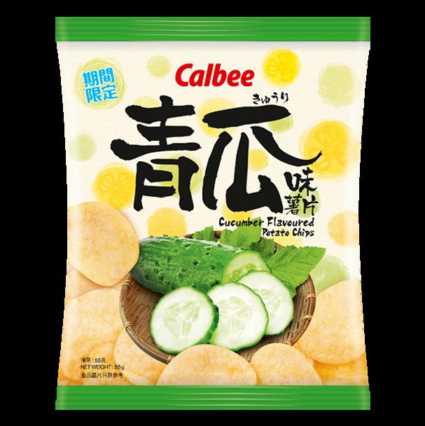 CALBEE Potato Chips Cucumber Flavor   卡樂B 青瓜味薯片 55g