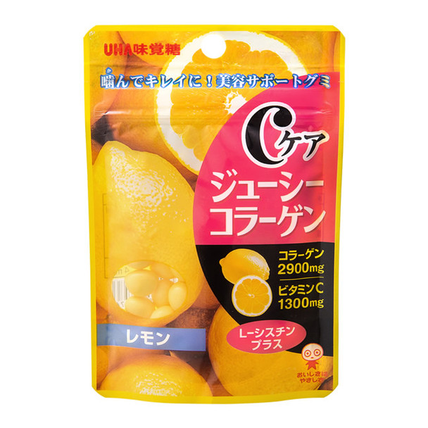 UHA C CARE Juice Collagen Candy Lemon Flavor | 味覺糖 骨膠原果汁糖檸檬味 40g