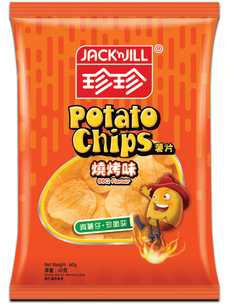 JACK N JILL Potato Chips Original BBQ Flavor | 珍珍燒烤味薯片 60g