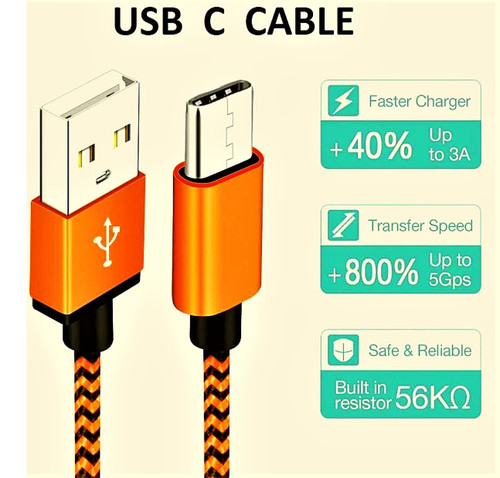 Type-C USB Charging Cable 6 ft.