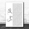 Any Song Lyrics Custom White Script Wall Art Personalized Lyrics Music Wall Art Print