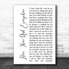 The Beatles Here, There And Everywhere White Script Song Lyric Wall Art Print