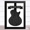 5 Seconds Of Summer Jet Black Heart Black & White Guitar Song Lyric Music Art Print